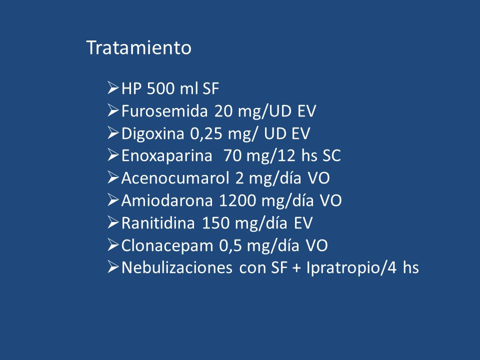 Tratamiento HP 500 ml SF Furosemida 20 mg/UD EV