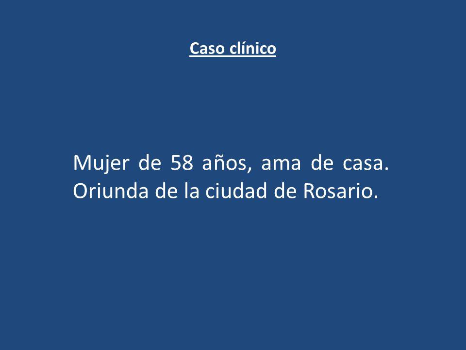 Mujer de 58 años, ama de casa. Oriunda de la ciudad de Rosario.