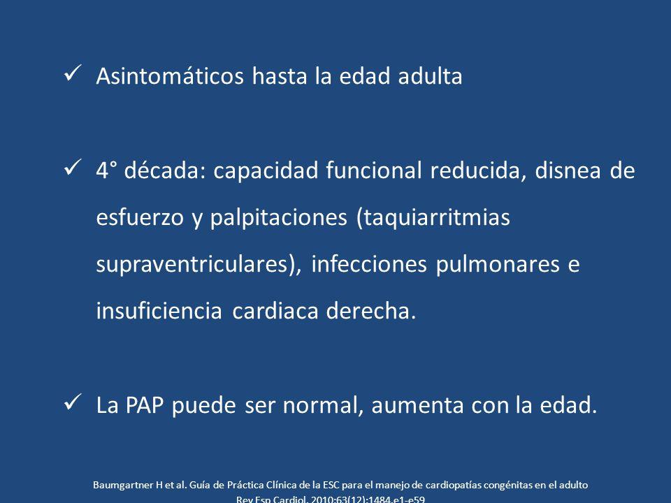 Asintomáticos hasta la edad adulta
