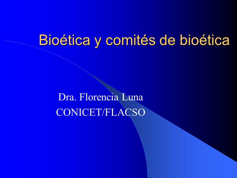 Bioética y comités de bioética
