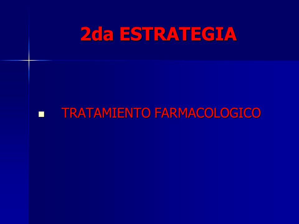 2da ESTRATEGIA TRATAMIENTO FARMACOLOGICO