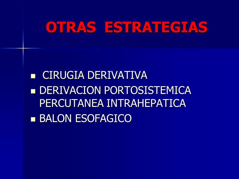 OTRAS ESTRATEGIAS CIRUGIA DERIVATIVA