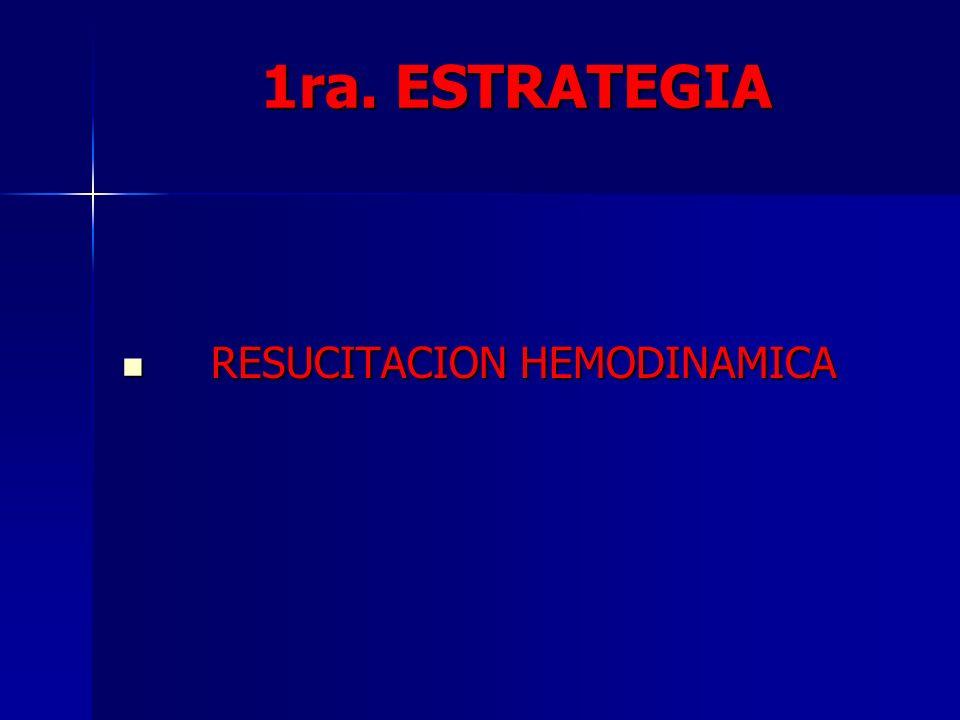 1ra. ESTRATEGIA RESUCITACION HEMODINAMICA