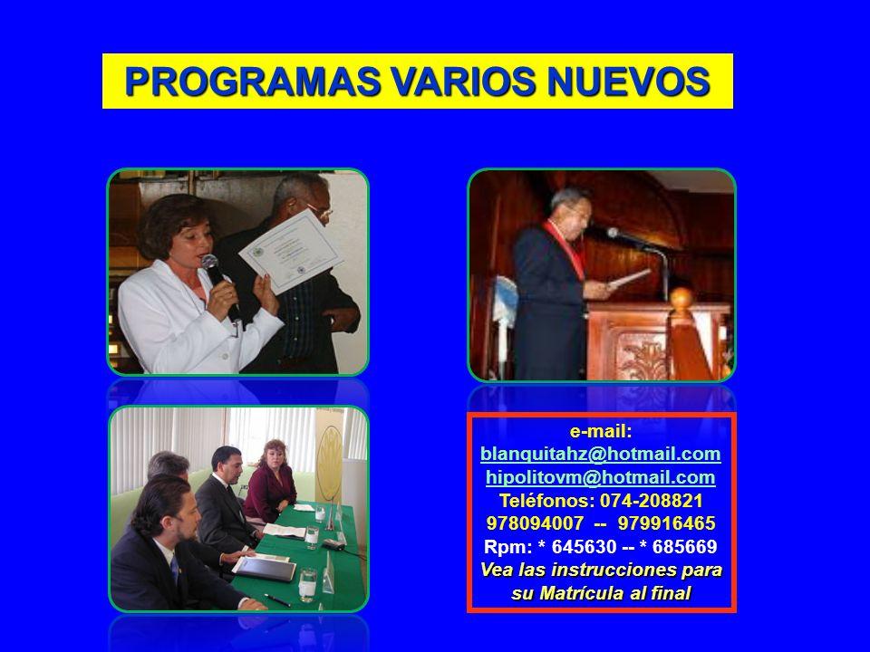 PROGRAMAS VARIOS NUEVOS