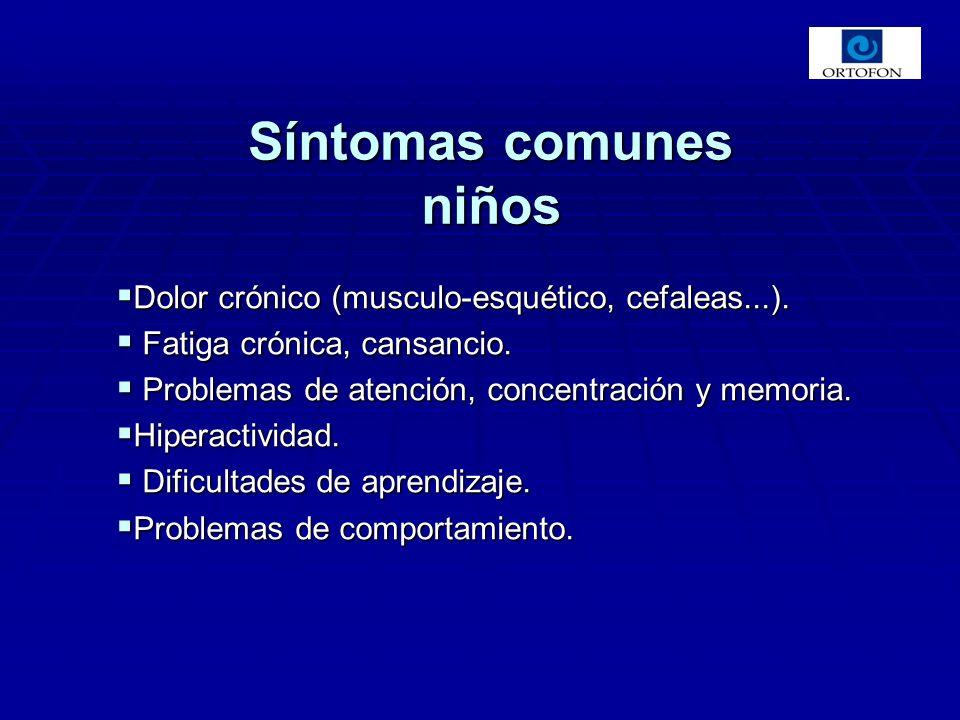 Síntomas comunes niños