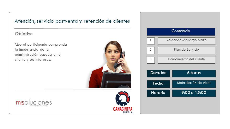 Atención, servicio postventa y retención de clientes