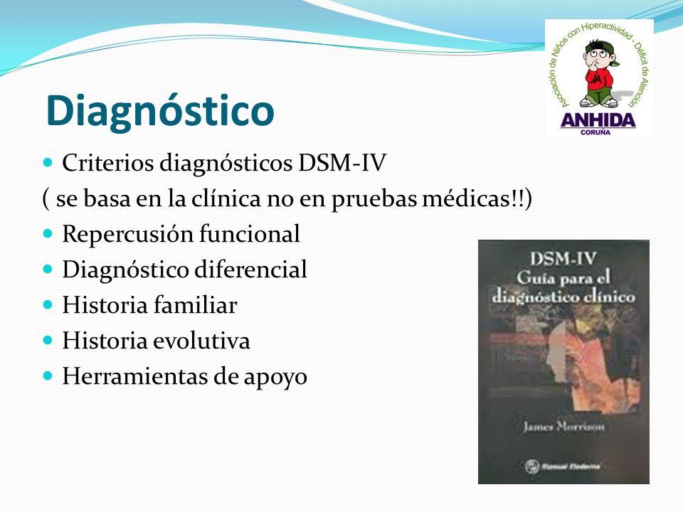 Diagnóstico Criterios diagnósticos DSM-IV
