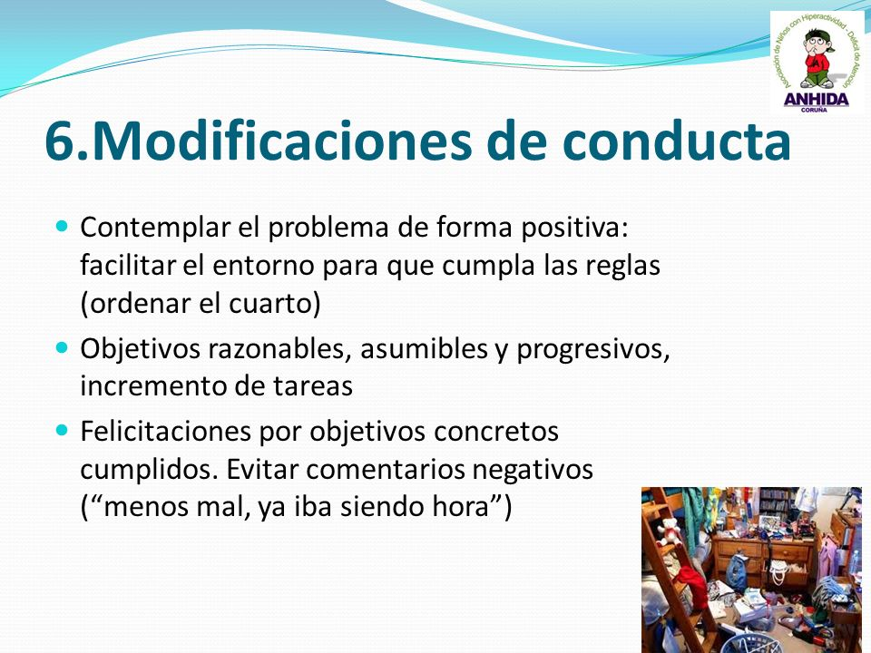 6.Modificaciones de conducta