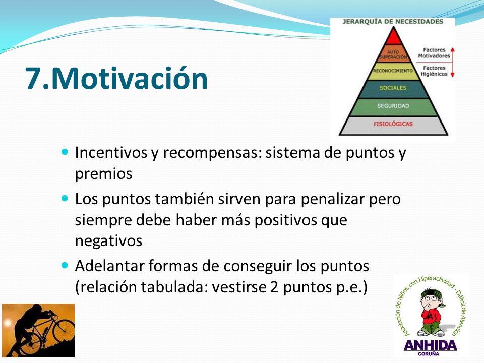 7.Motivación Incentivos y recompensas: sistema de puntos y premios