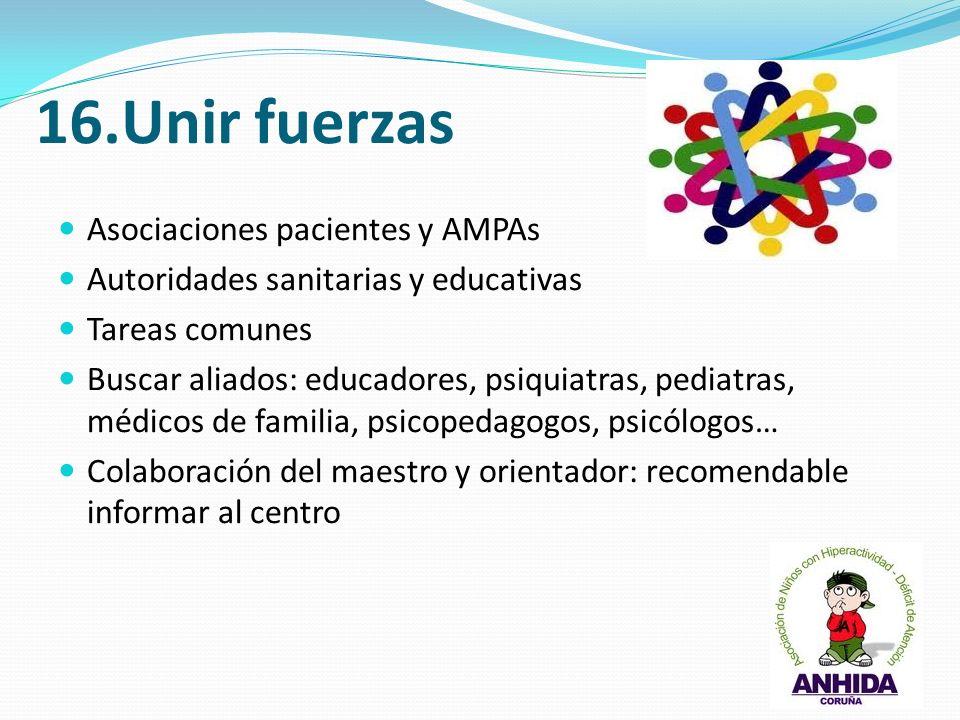 16.Unir fuerzas Asociaciones pacientes y AMPAs