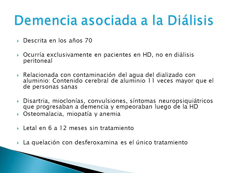 Demencia asociada a la Diálisis