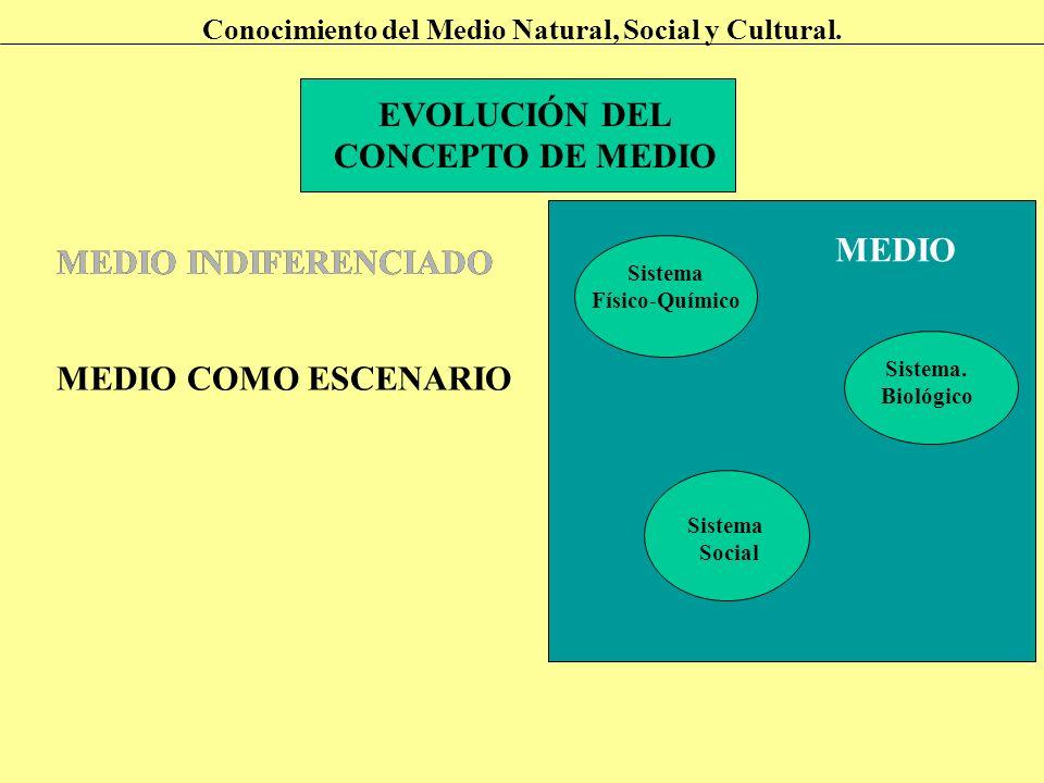 EVOLUCIÓN DEL CONCEPTO DE MEDIO