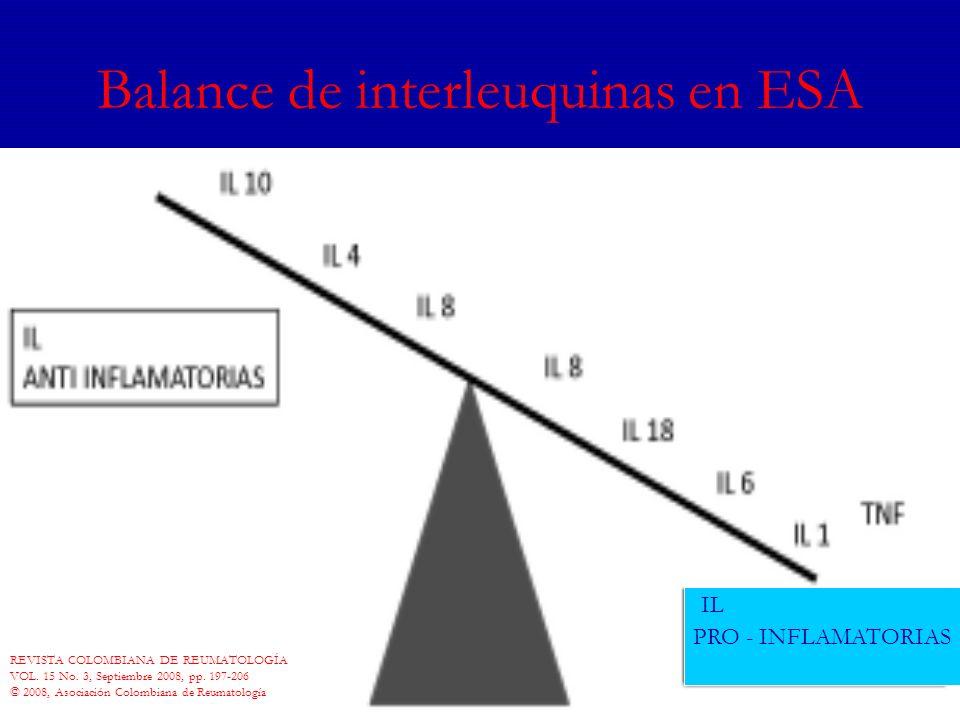Balance de interleuquinas en ESA