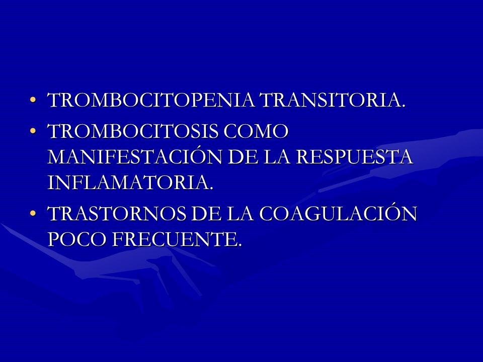 TROMBOCITOPENIA TRANSITORIA.