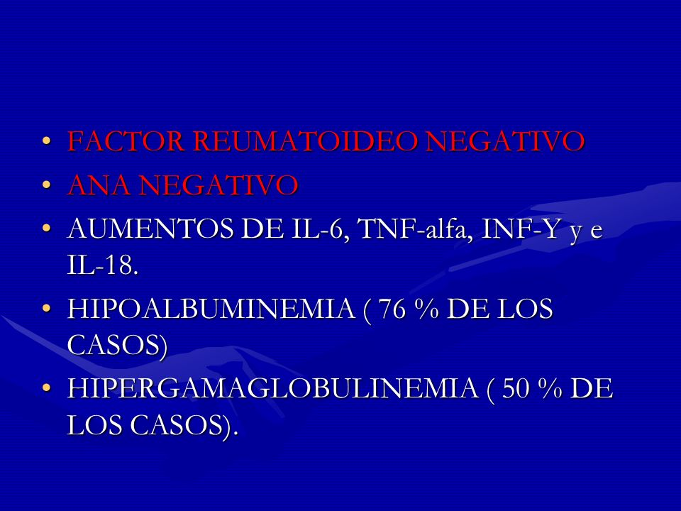 FACTOR REUMATOIDEO NEGATIVO