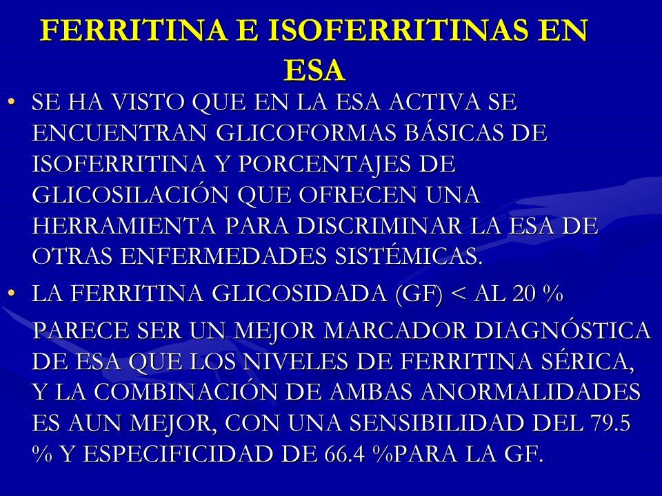 FERRITINA E ISOFERRITINAS EN ESA