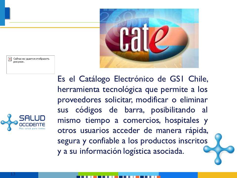 Es el Catálogo Electrónico de GS1 Chile, herramienta tecnológica que permite a los proveedores solicitar, modificar o eliminar sus códigos de barra, posibilitando al mismo tiempo a comercios, hospitales y otros usuarios acceder de manera rápida, segura y confiable a los productos inscritos y a su información logística asociada.