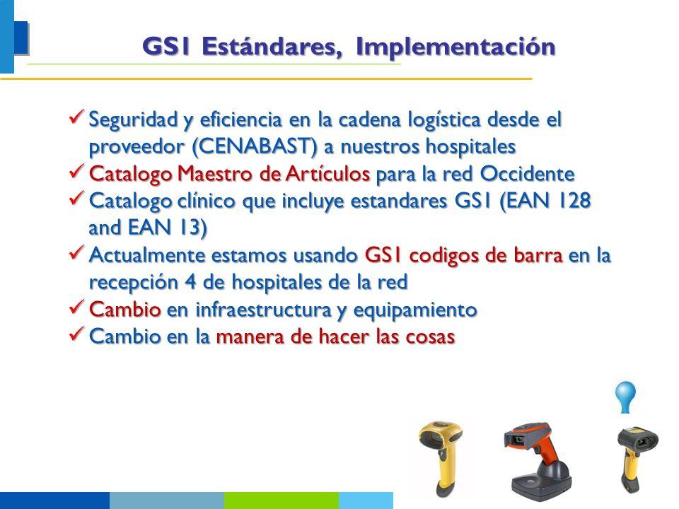 GS1 Estándares, Implementación