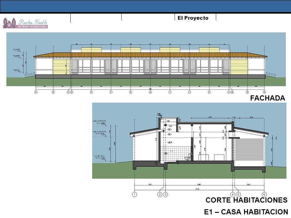 El Proyecto FACHADA CORTE HABITACIONES E1 – CASA HABITACION