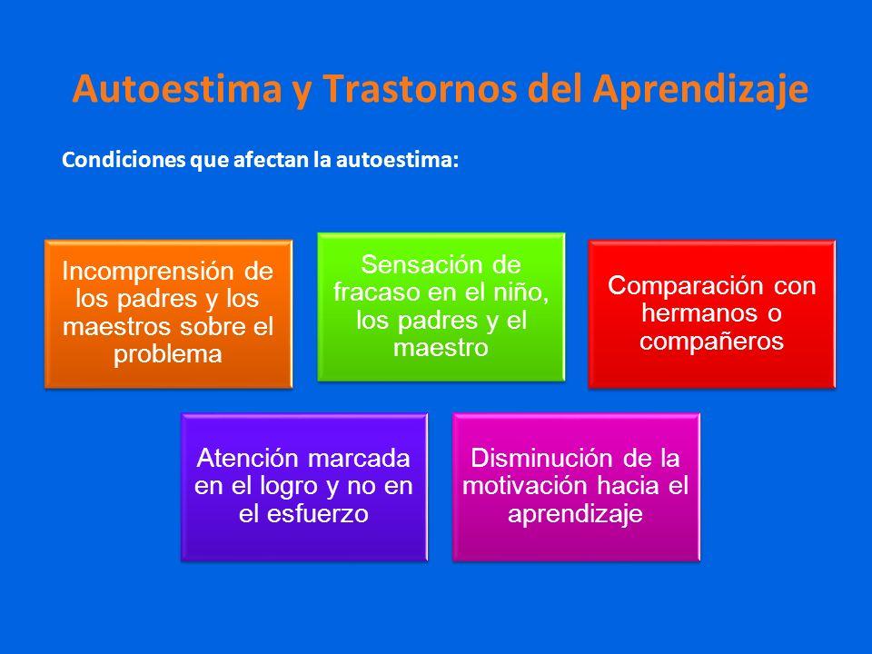Autoestima y Trastornos del Aprendizaje
