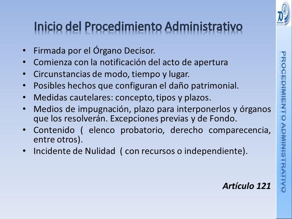 Inicio del Procedimiento Administrativo