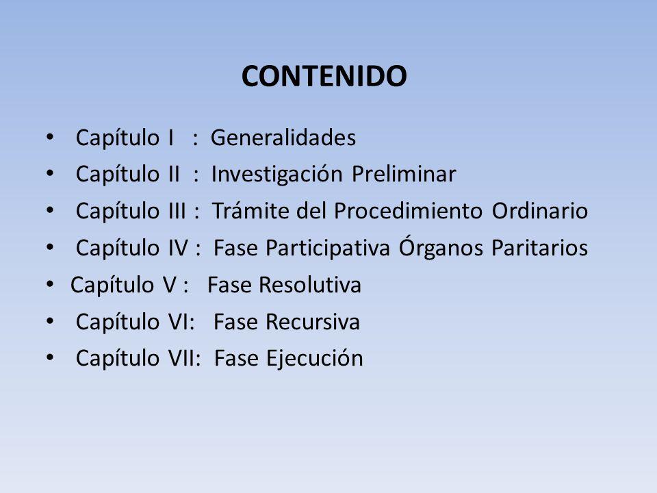 CONTENIDO Capítulo I : Generalidades
