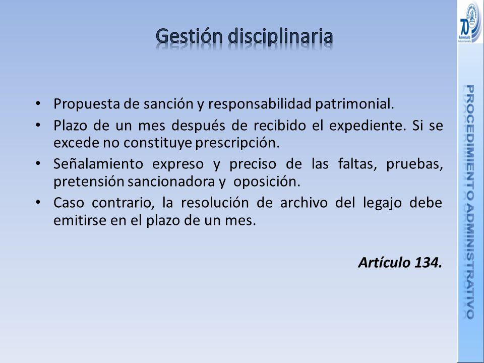Gestión disciplinaria