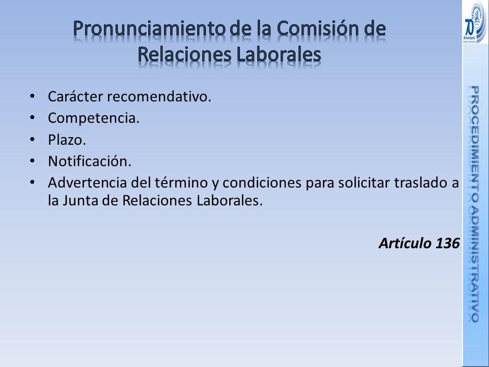 Pronunciamiento de la Comisión de