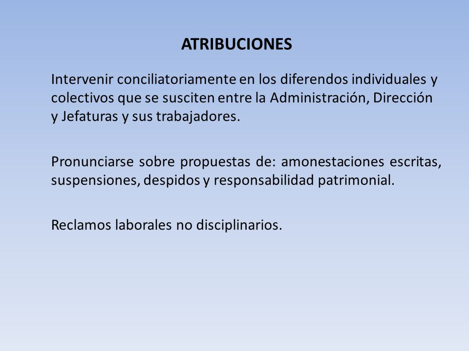 ATRIBUCIONES