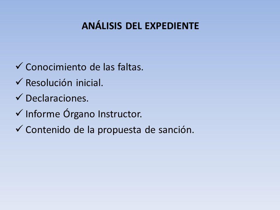ANÁLISIS DEL EXPEDIENTE