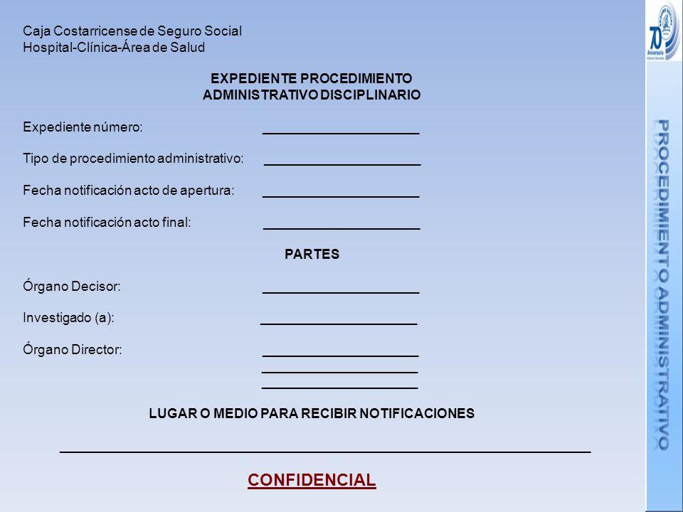 CONFIDENCIAL Caja Costarricense de Seguro Social