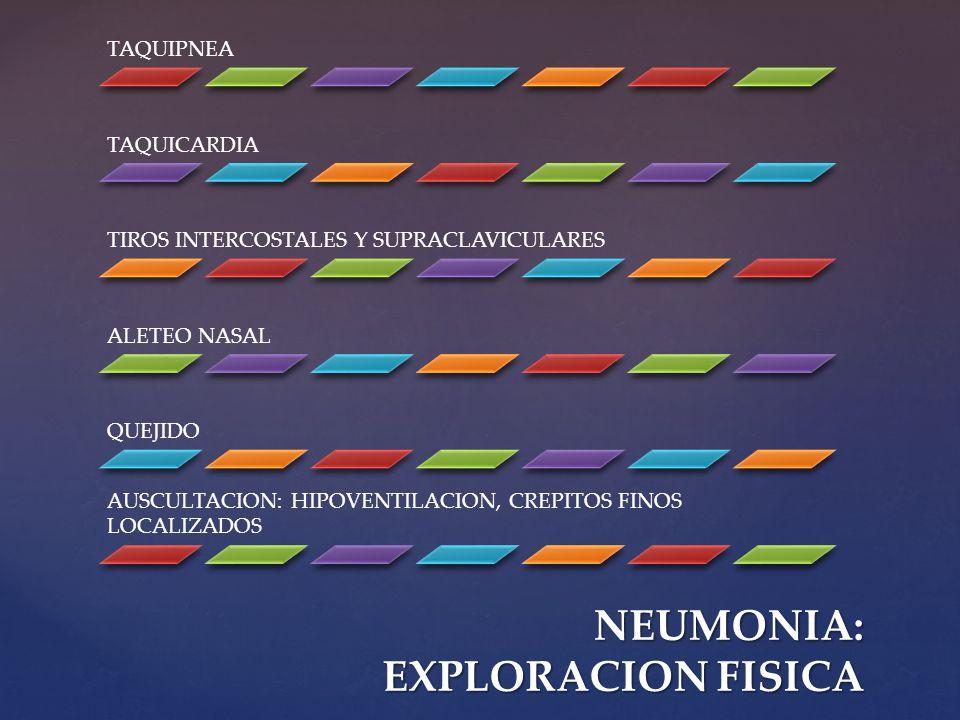 NEUMONIA: EXPLORACION FISICA