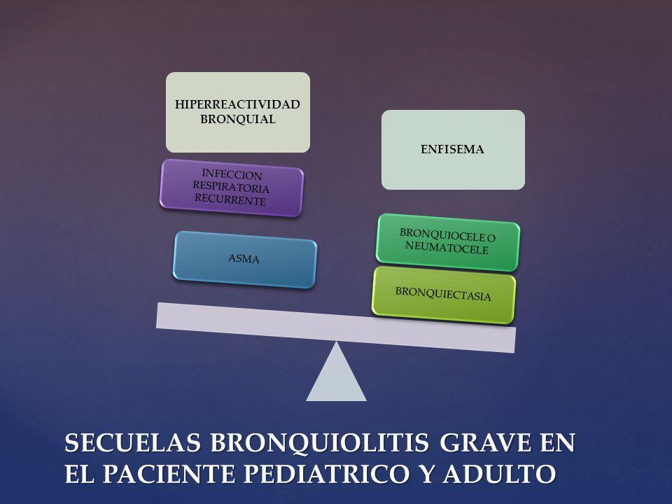 SECUELAS BRONQUIOLITIS GRAVE EN EL PACIENTE PEDIATRICO Y ADULTO