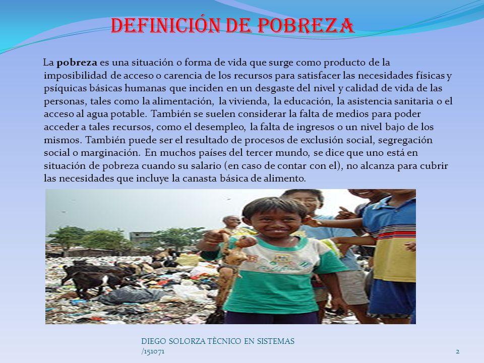 Definición de pobreza