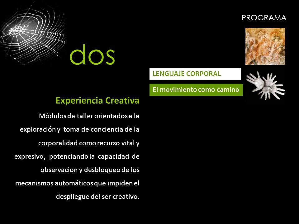 dos Experiencia Creativa PROGRAMA LENGUAJE CORPORAL