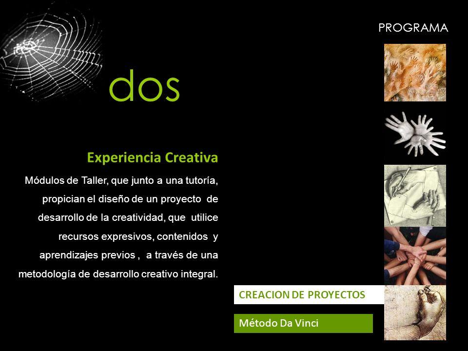 dos Experiencia Creativa PROGRAMA CREACION DE PROYECTOS