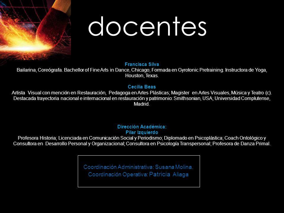 docentes Coordinación Administrativa: Susana Molina.