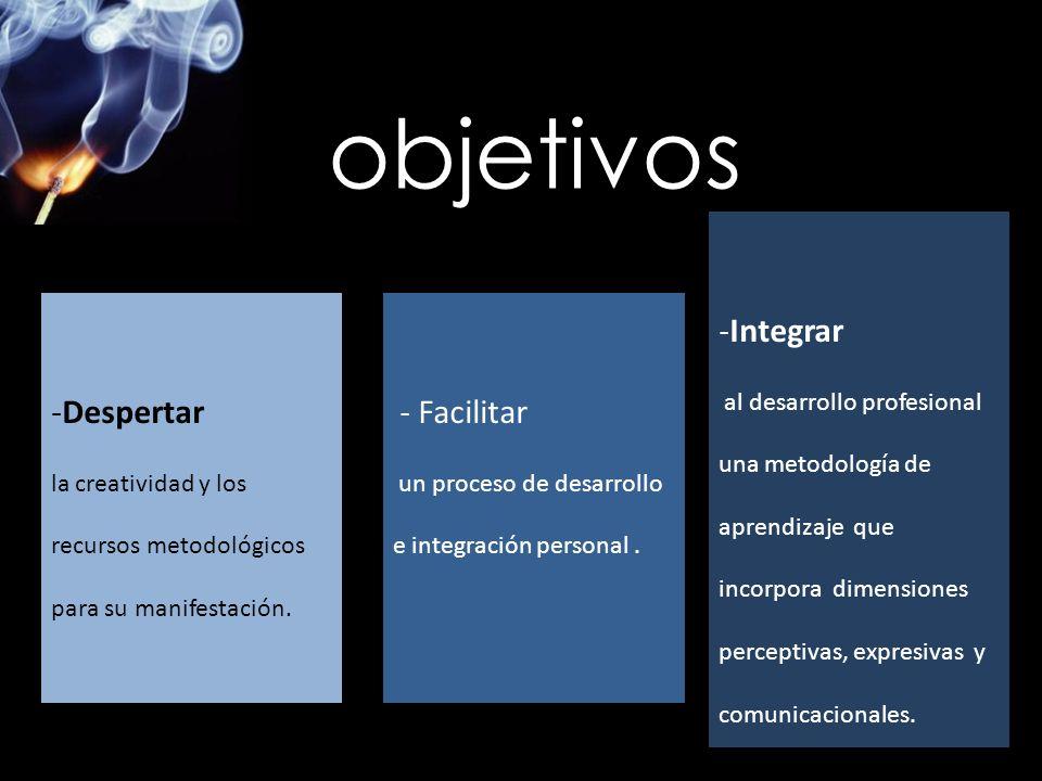 objetivos Integrar Despertar - Facilitar al desarrollo profesional