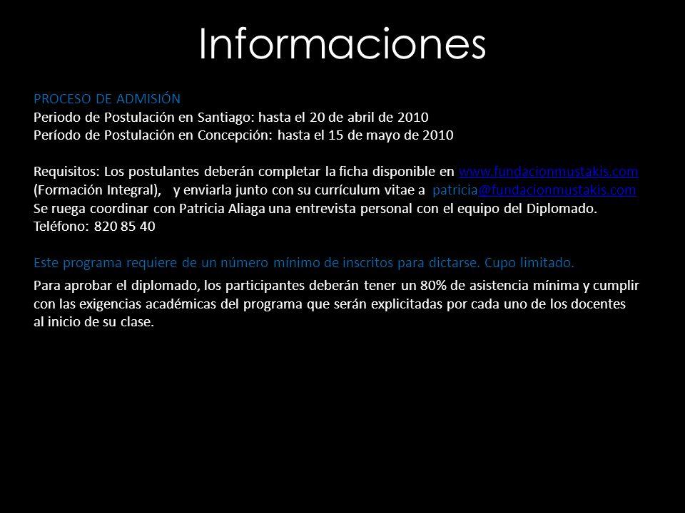 Informaciones PROCESO DE ADMISIÓN