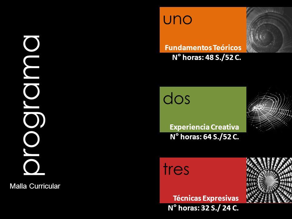 programa uno dos tres Fundamentos Teóricos N° horas: 48 S./52 C.