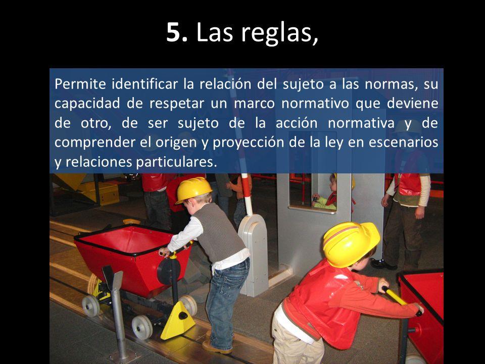 5. Las reglas,