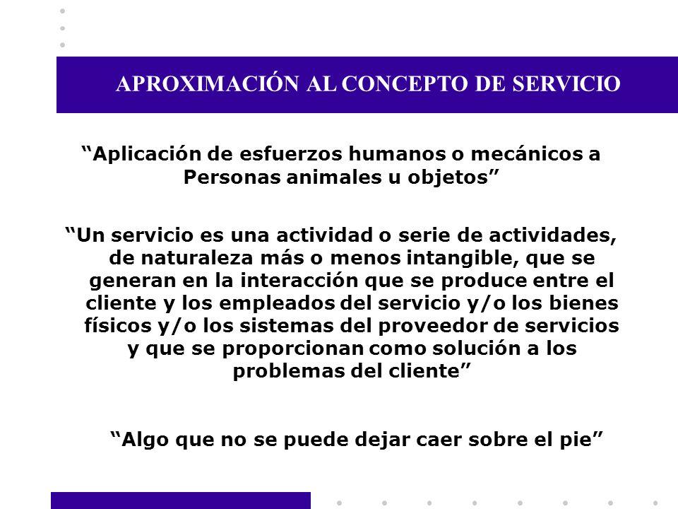 APROXIMACIÓN AL CONCEPTO DE SERVICIO