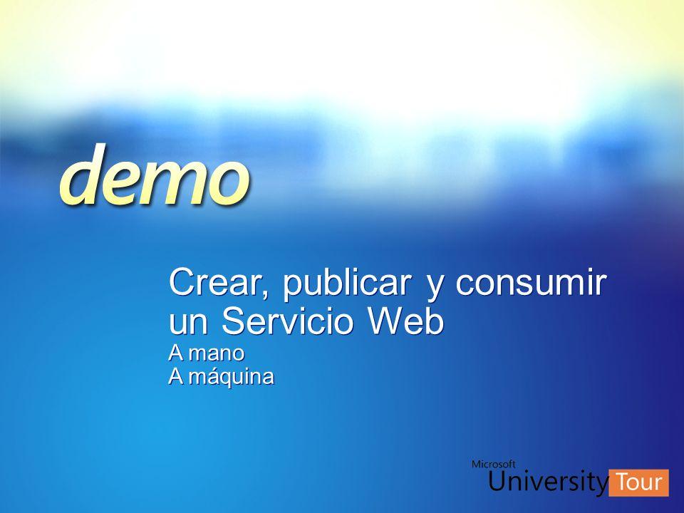 Crear, publicar y consumir un Servicio Web