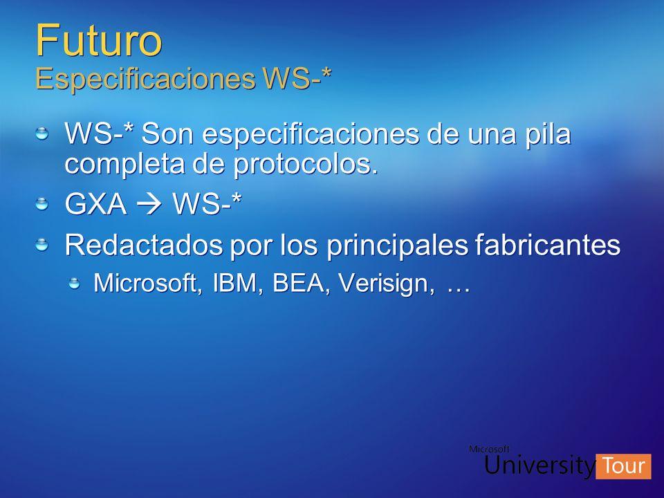 Futuro Especificaciones WS-*
