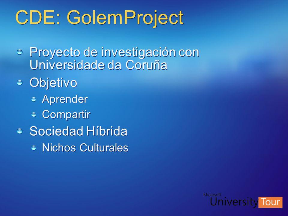 CDE: GolemProject Proyecto de investigación con Universidade da Coruña