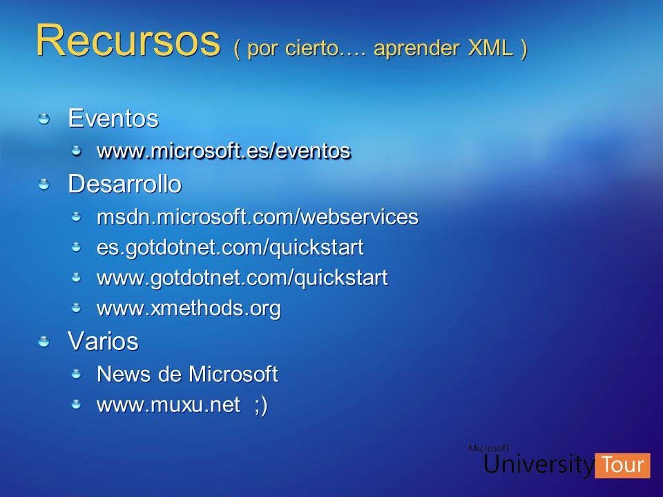 Recursos ( por cierto…. aprender XML )