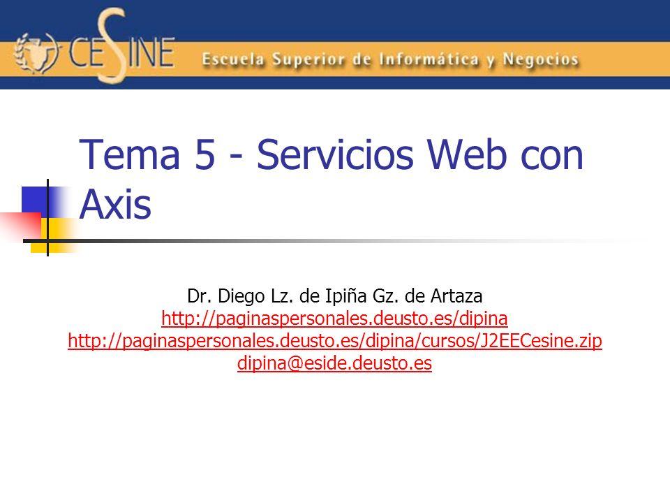 Tema 5 - Servicios Web con Axis