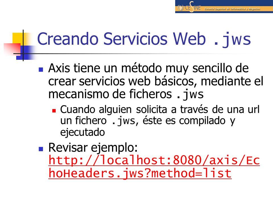 Creando Servicios Web .jws