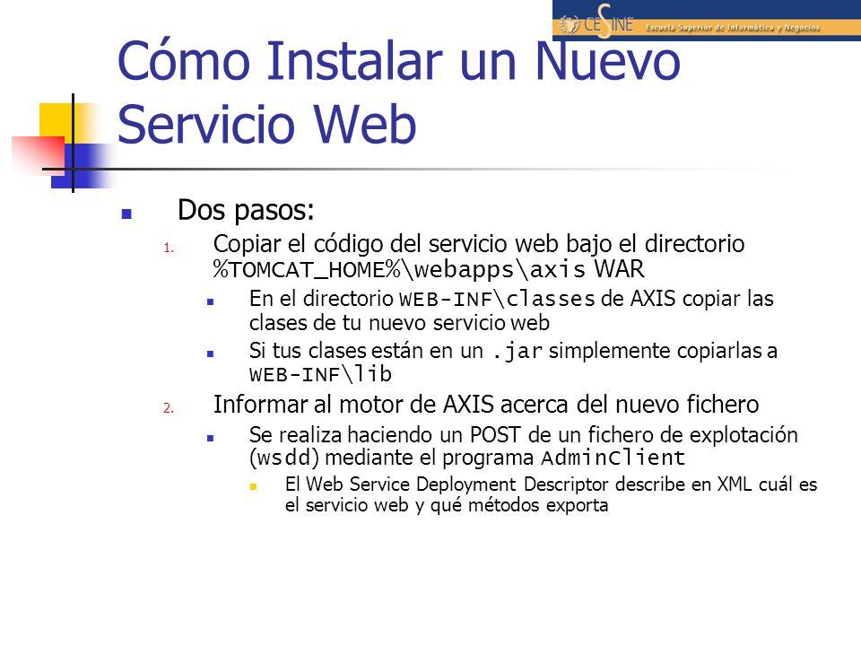 Cómo Instalar un Nuevo Servicio Web