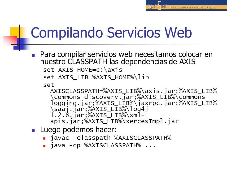 Compilando Servicios Web